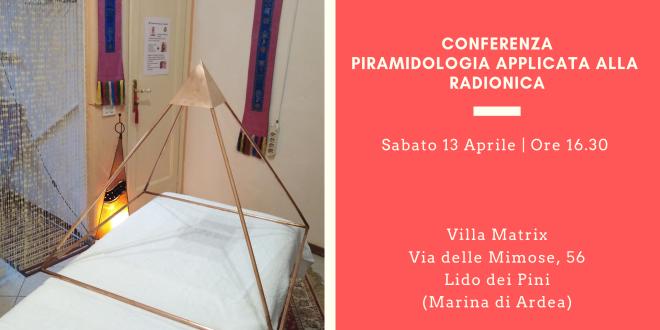 Conferenza Piramidologia applicata alla Radionica – Ardea