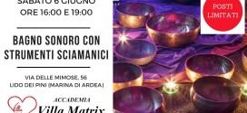 Bagno Sonoro Sciamanico e con Campane di Cristallo