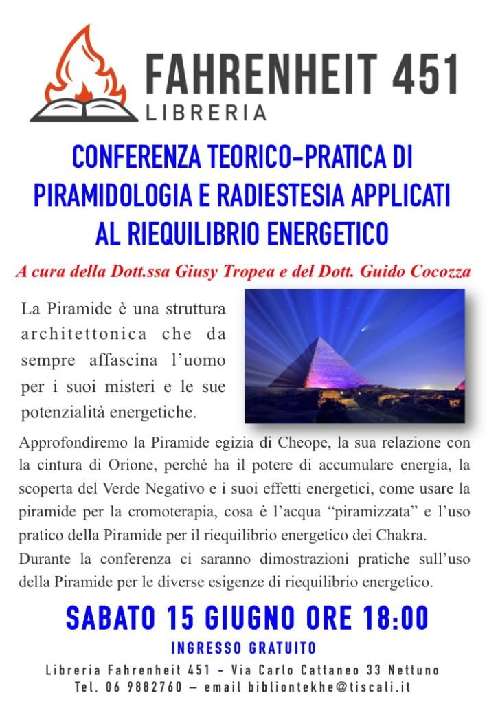 Conferenza teorico-pratica di Piramidologia