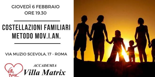 Costellazioni Familiari metodo Movian a Roma