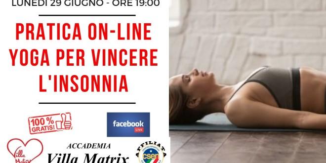 Yoga per vincere l'insonnia – Pratica Live