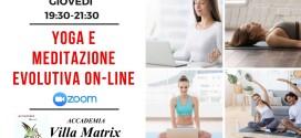 Yoga e Meditazione Evolutiva on-line