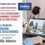 Evento live on-line su Facebook